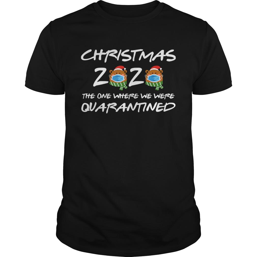 2020 Christmas Bear Wearing Face Mask Quarantined shirt