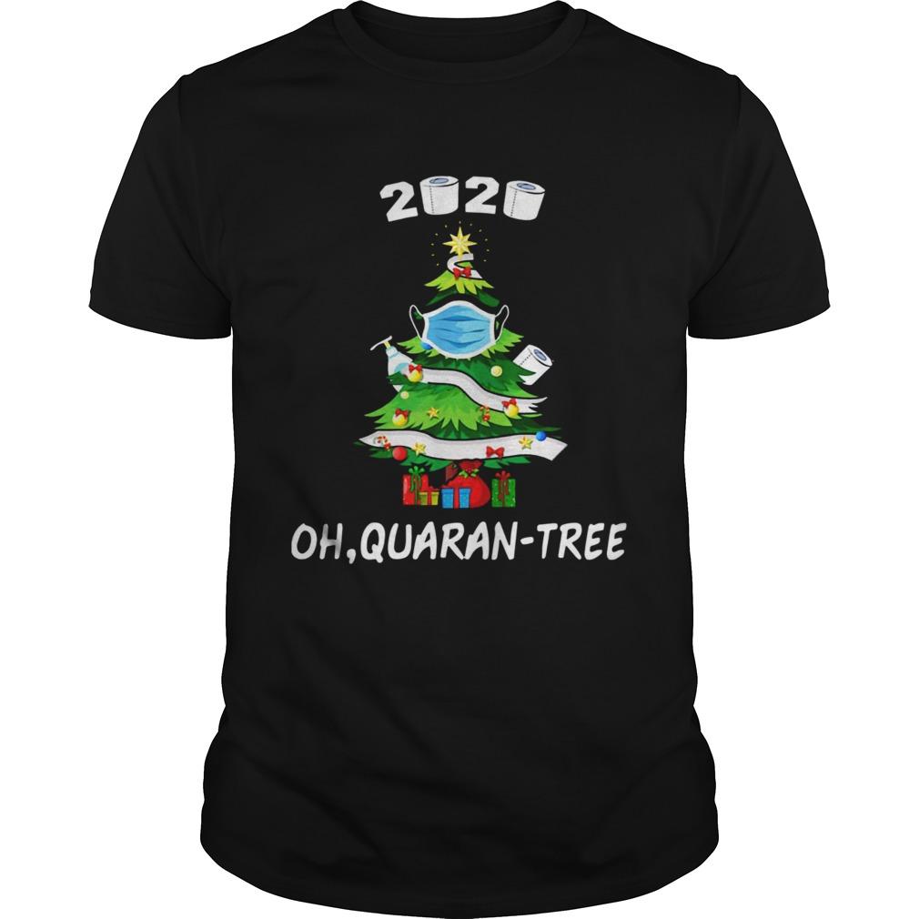 2020 Funny Quarantine Christmas Tree Ornament Mask shirt