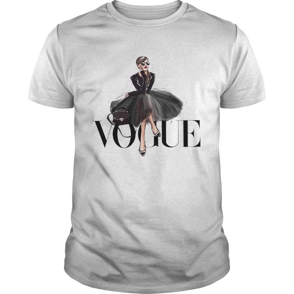 Girl Vogue Fashion F Style Summer Round shirt
