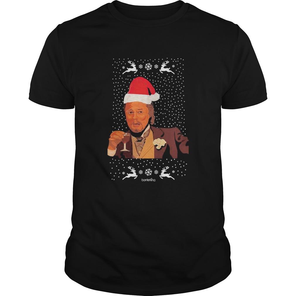 Leonardo Dicaprio Laughing Ugly Christmas shirt