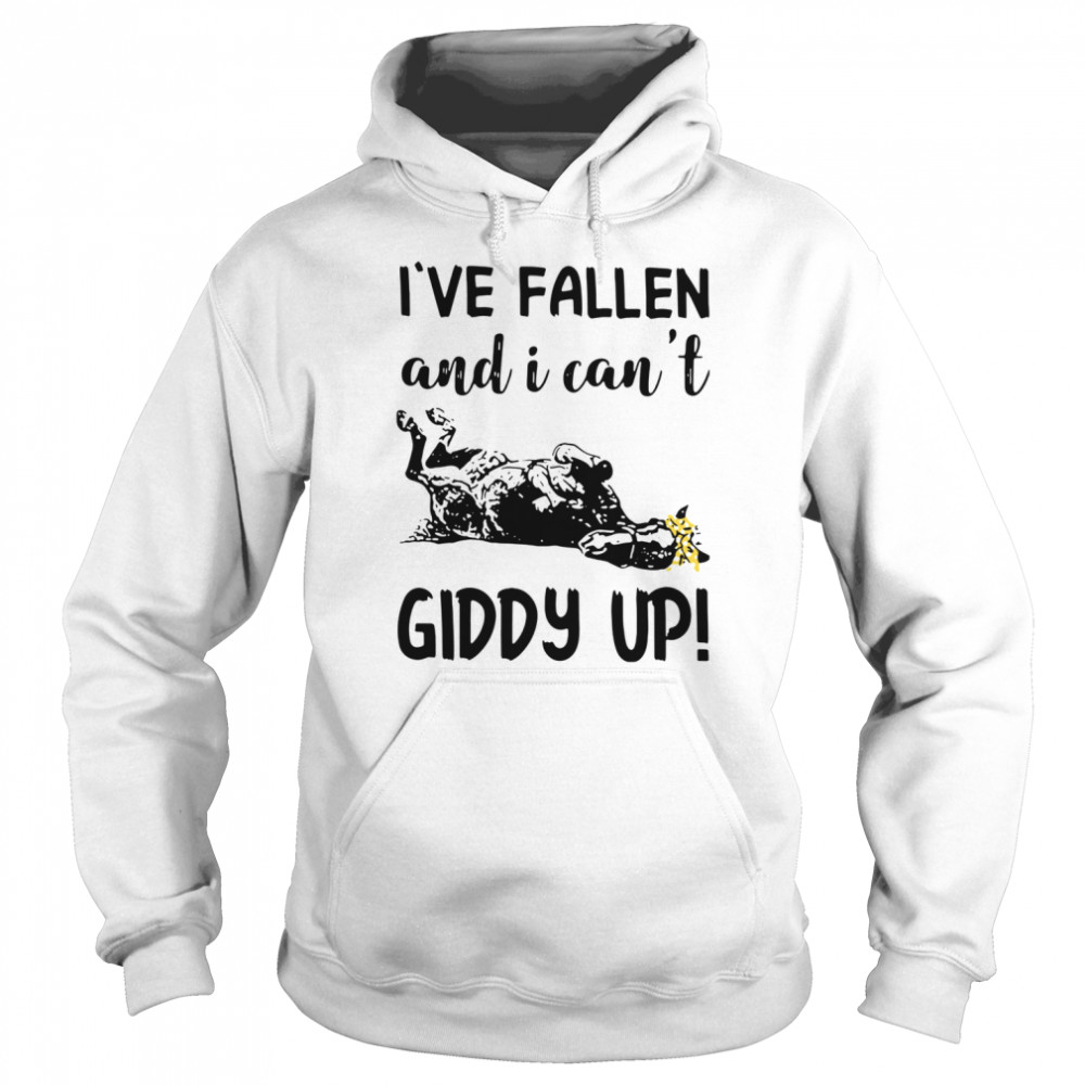 Horse I've Fallen And I Can't Giddy Up  Unisex Hoodie