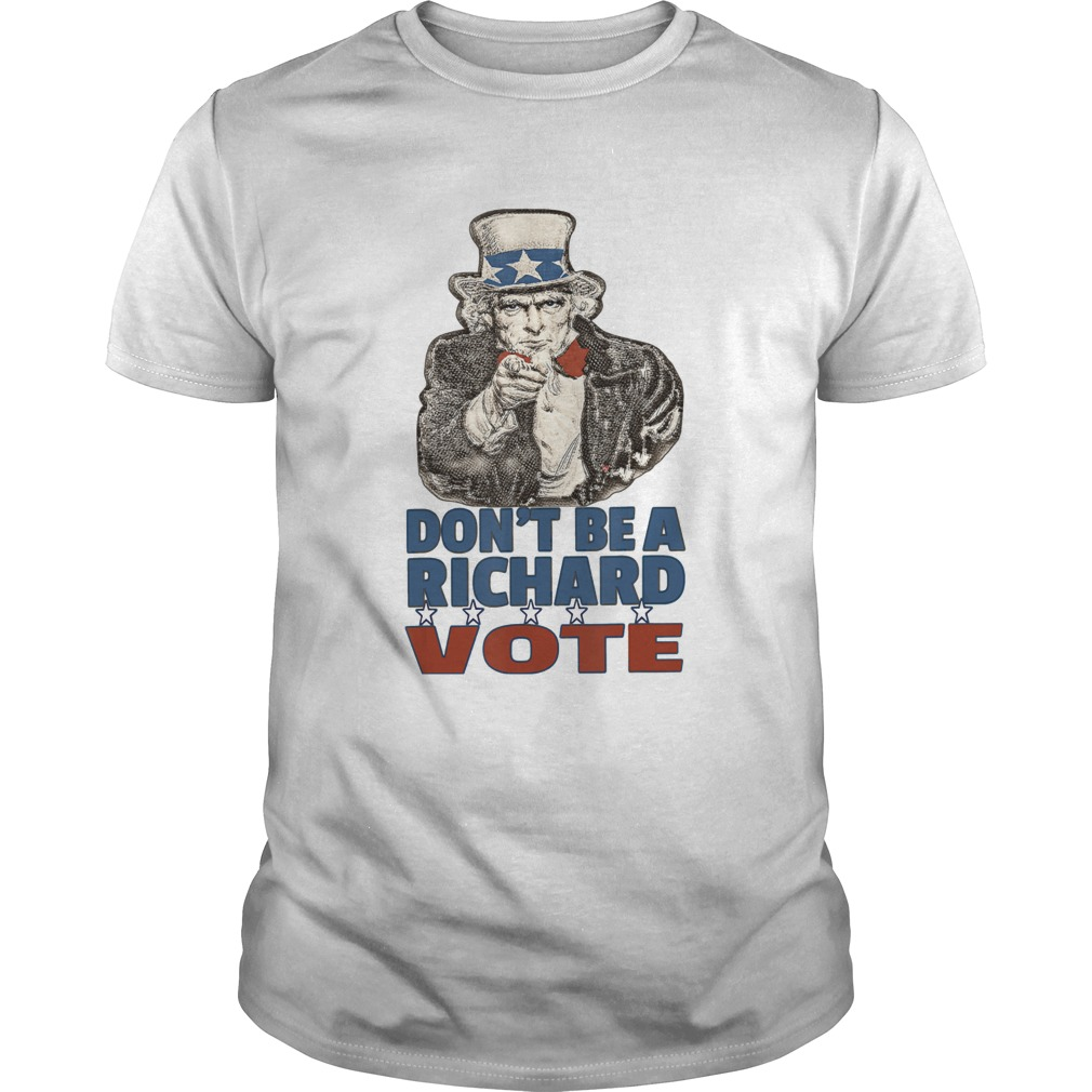 Just Vote Dont Be A Richard 2020 Election Ballot shirt