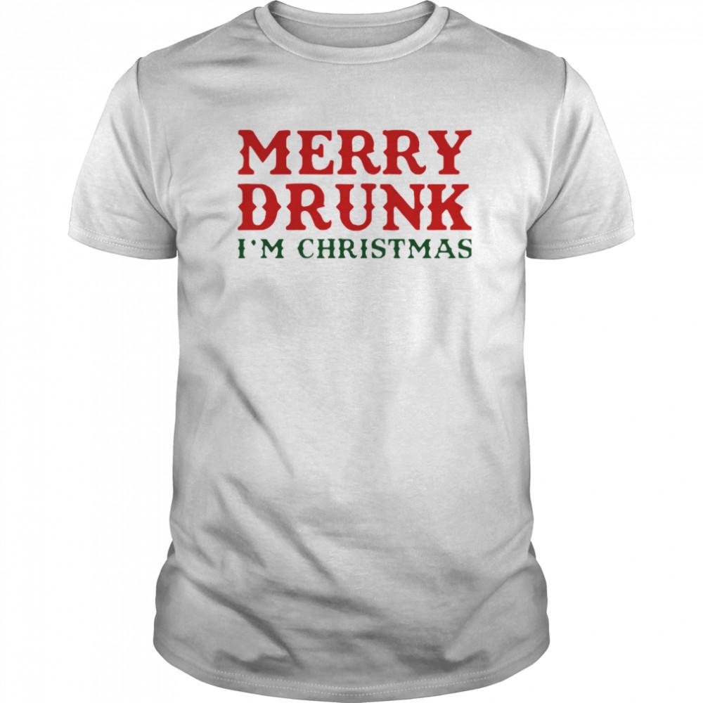 Merry Drunk I'm Christmas shirt