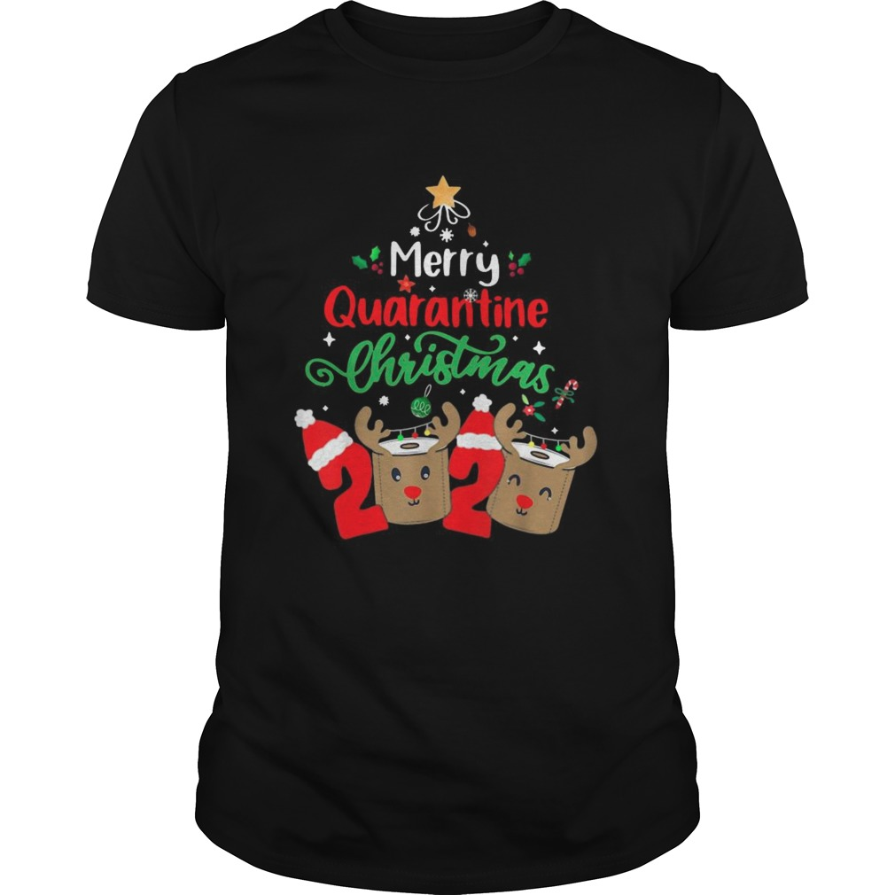 Merry Quarantine Christmas 2020 Xmas Reindeer Toilet Paper shirt