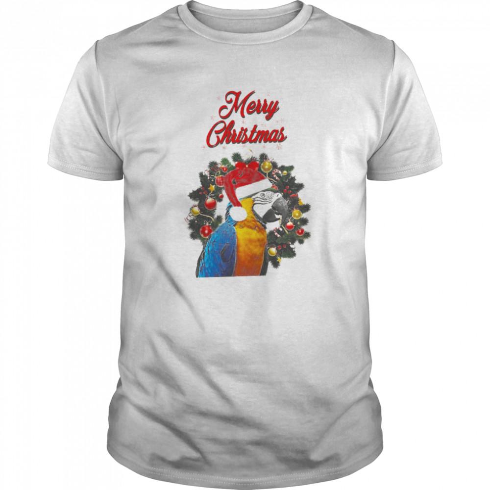 Parrot Merry Christmas shirt