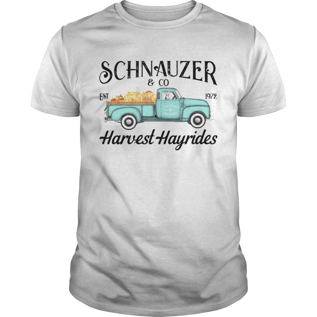 Schnauzer Giving Harvest Hayrides shirt