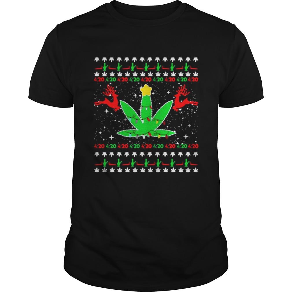 420 Cannabis Reindeer Christmas shirt