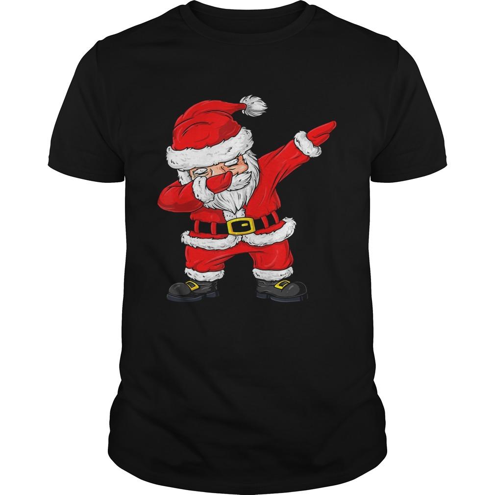 Christmas Dabbing Santa Claus Boys Girls Kids Xmas shirts