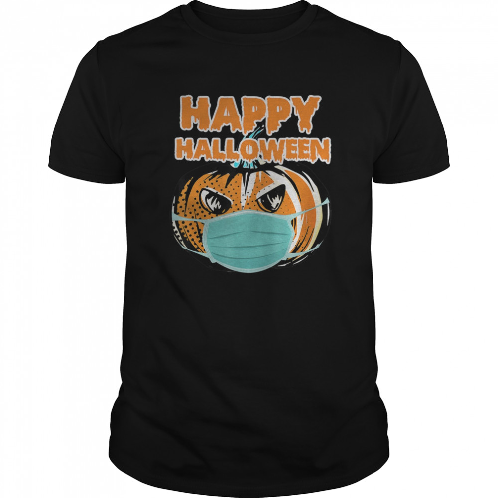Happy Halloween 2020 In Mask Funny Quarantine shirt