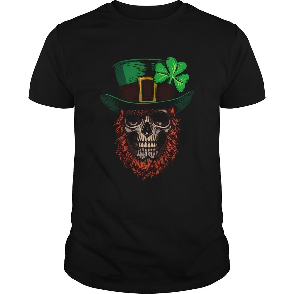 Saint Patricks Skull Man Day Of Dead Muertos shirt