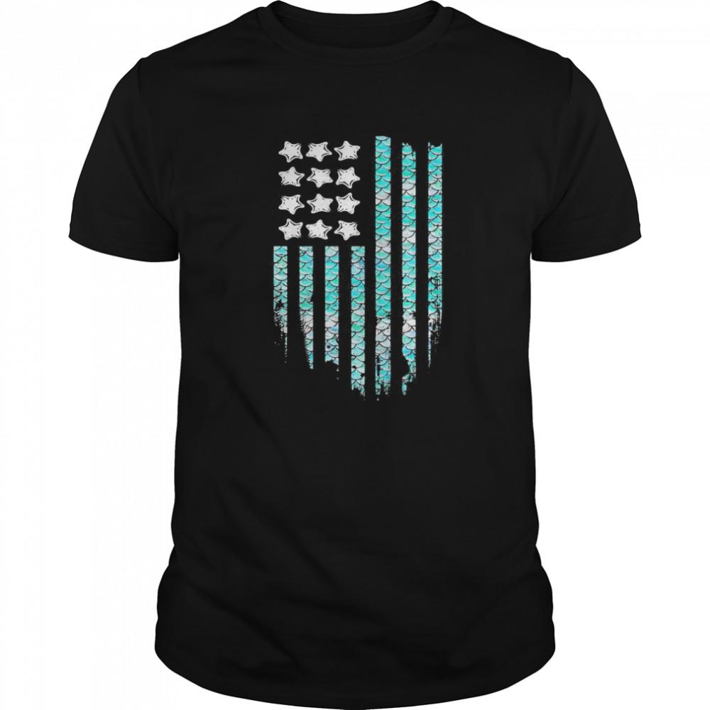American Mermaid Flag shirt