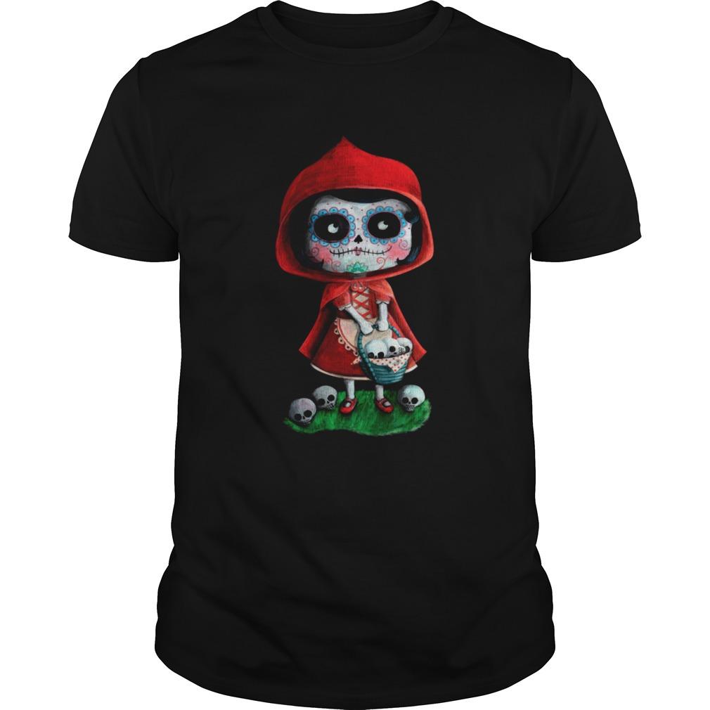 Riding Hood Dia De Muertos shirt