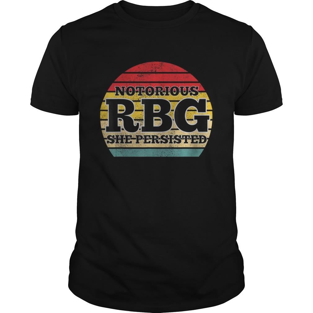 She Persisted RBG Ruth Bader Ginsburg shirt