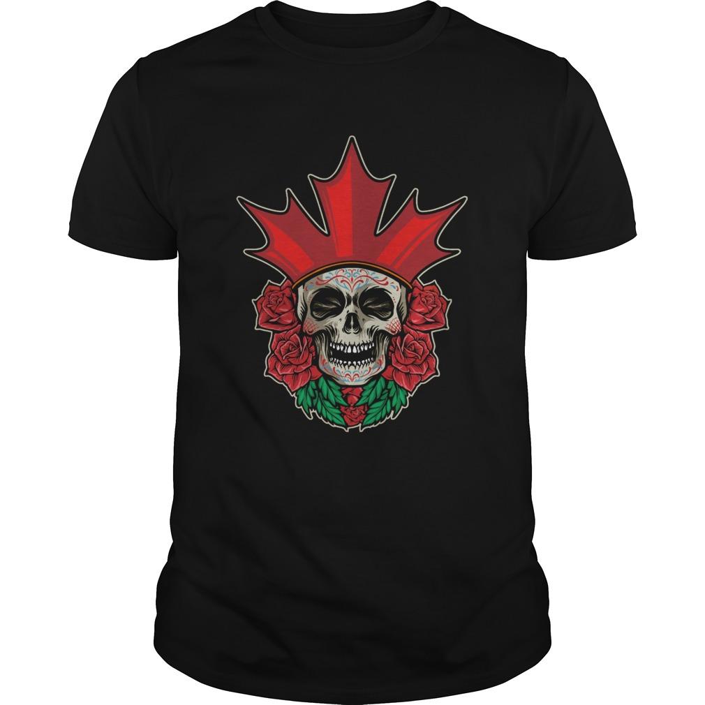 Skull Rose Dia De Muertos Day Of Dead shirt