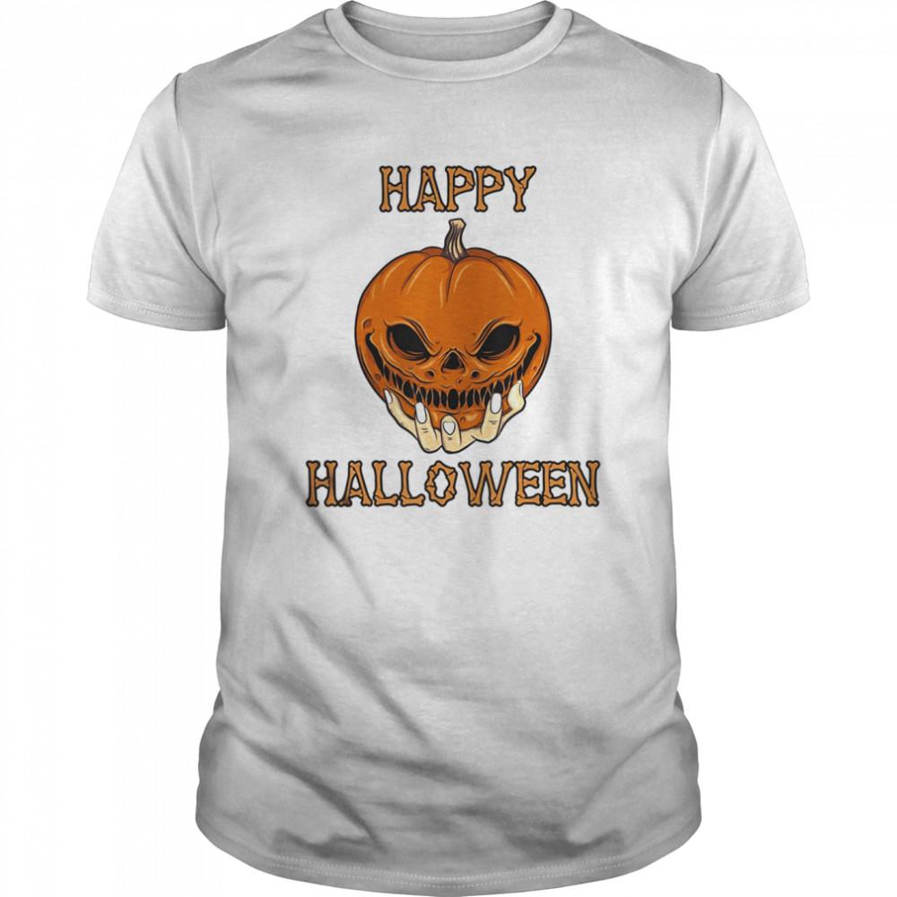 Bones Scary Pumpkin Face shirt