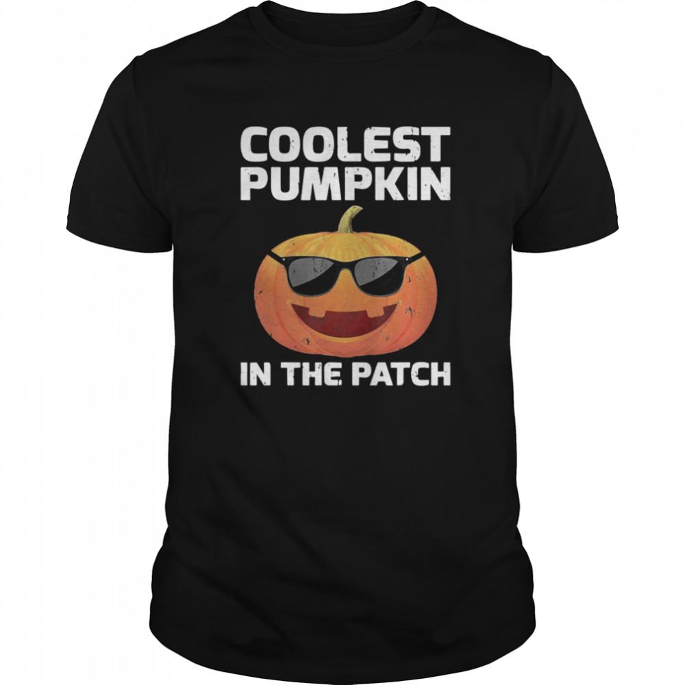 Halloween Coolest Pumpkin In The Patch Boys Girls Kids shirt