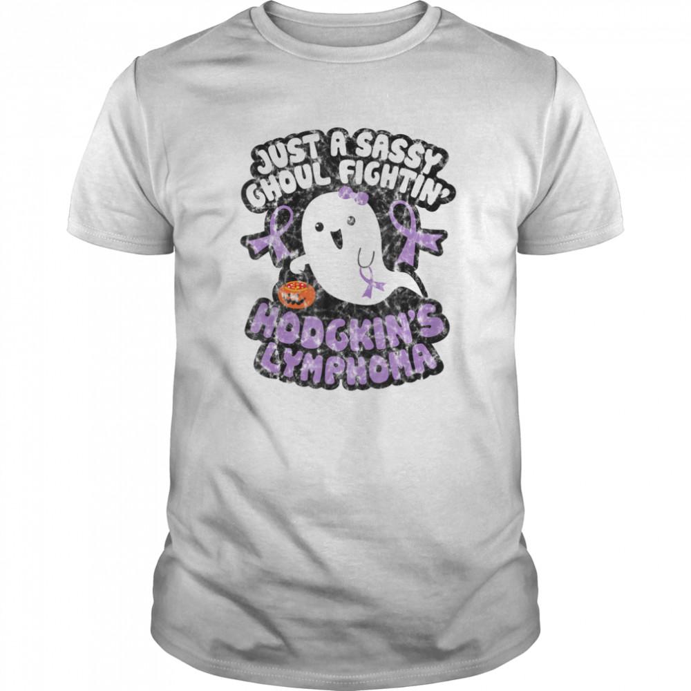 Halloween Sassy Ghoul Fighting Hodgkins Lymphoma Cute Ghost shirt
