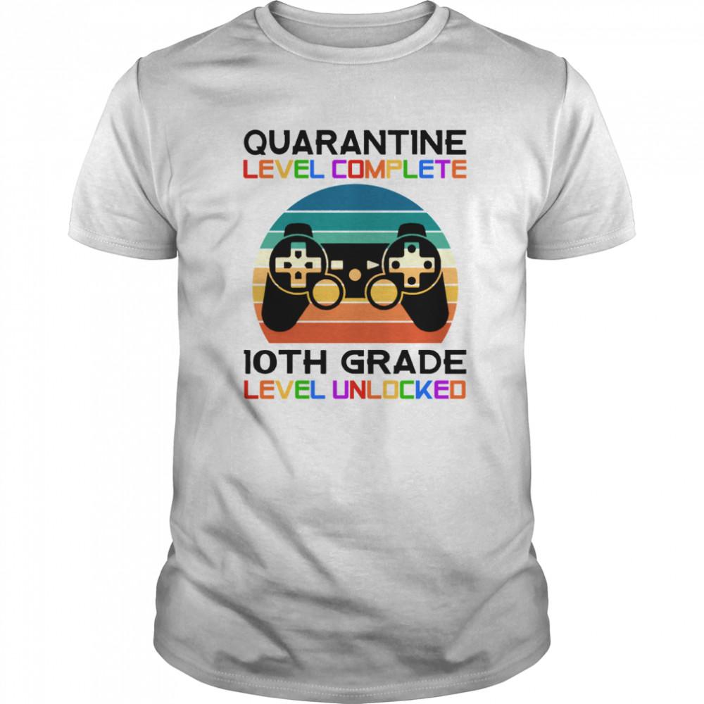 Quarantine Lever 10th Grade Unlocked School Vintage Gift shirt
