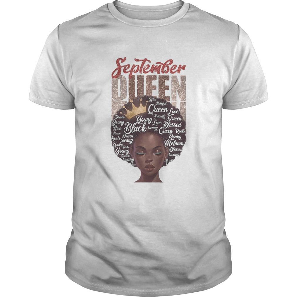 Black woman september queen shirt