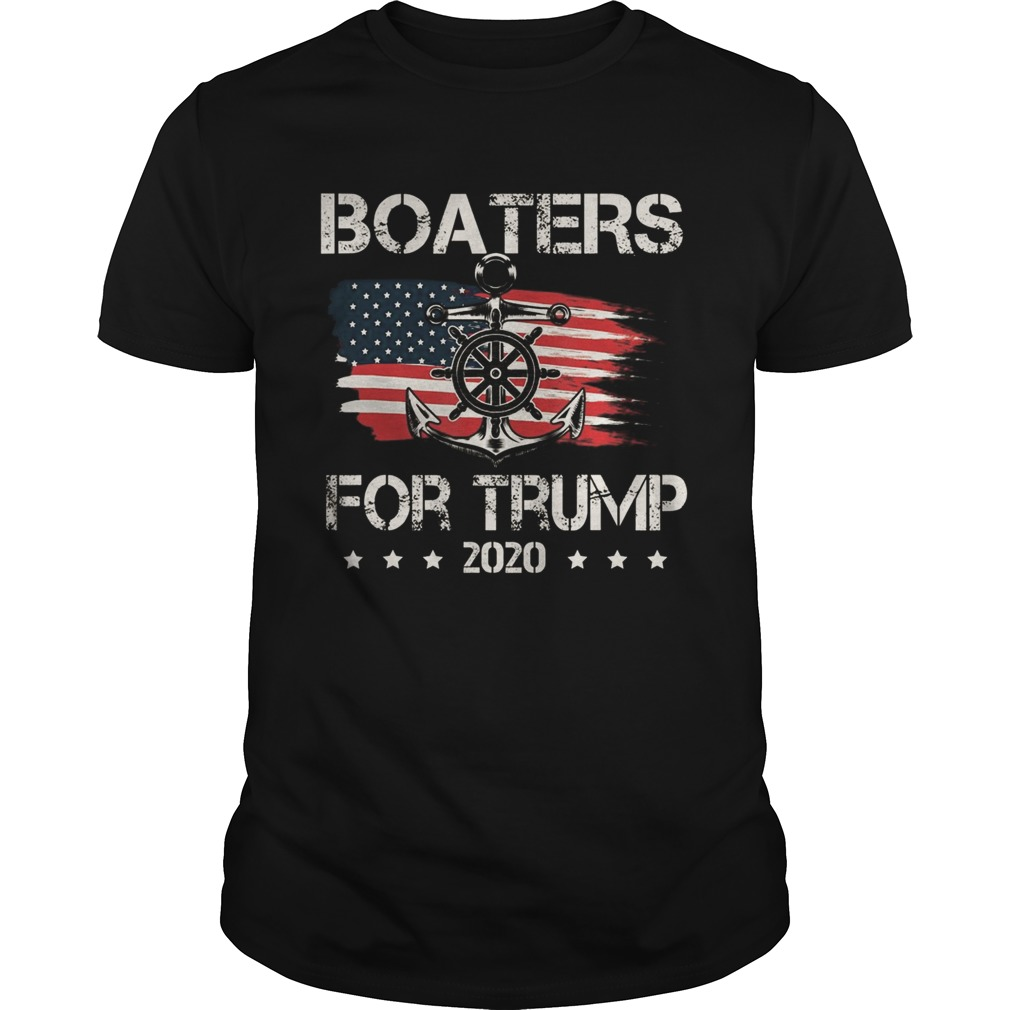 Boaters For Trump US Flag Re Elect President Trump 2020 shirt