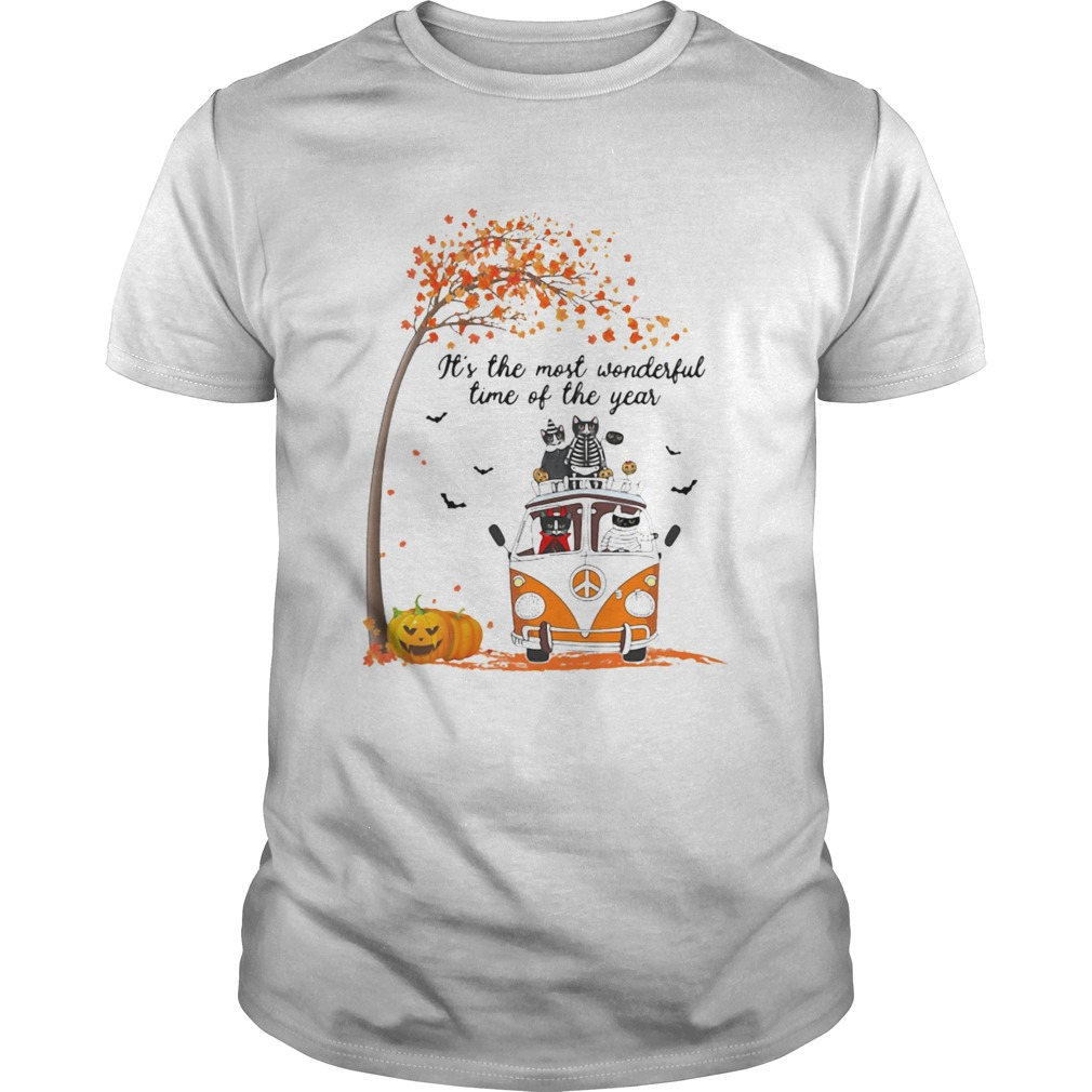 Cat riding peace its the most wonderful time of the year leaves tree shirt