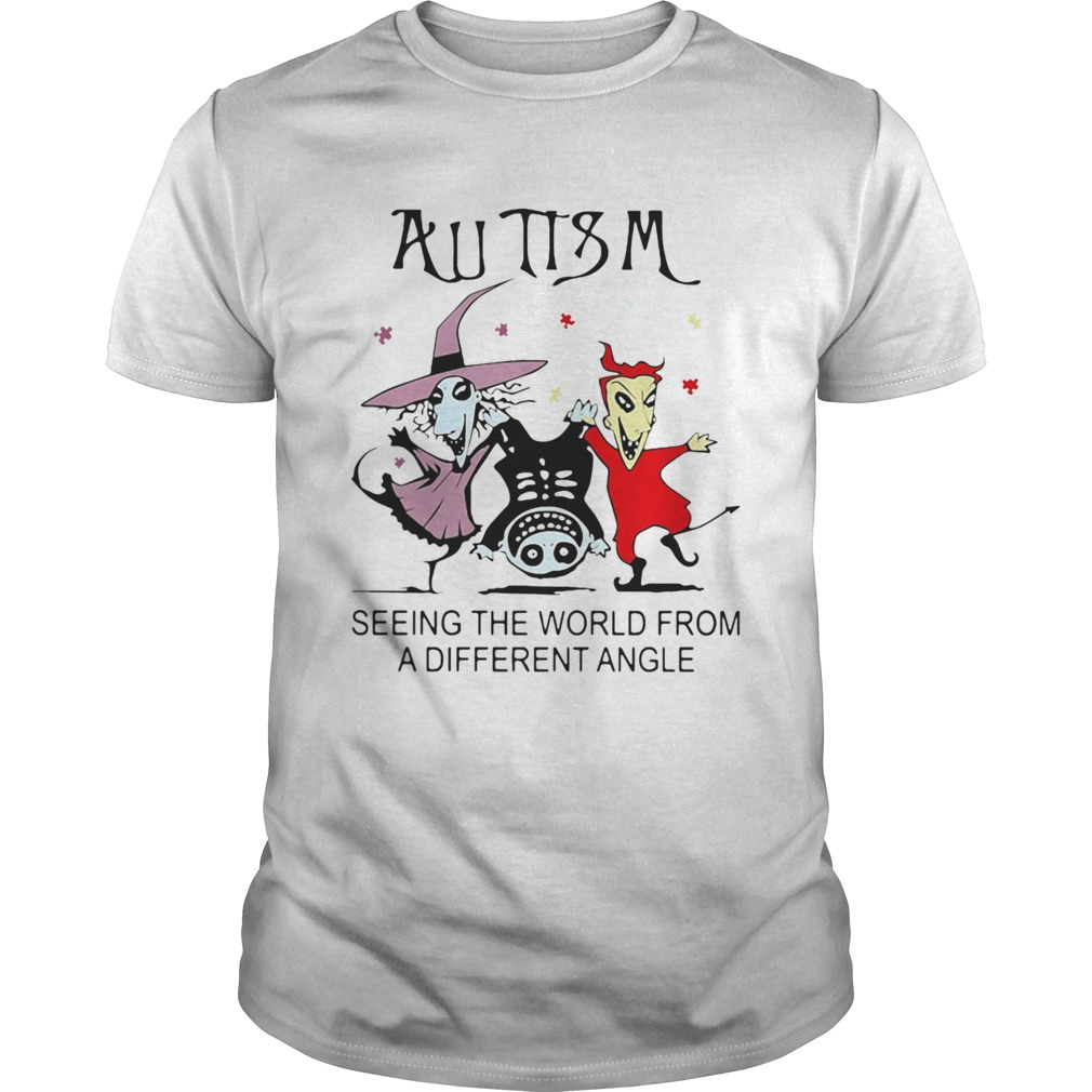 Halloween Autism seeing the world from a different angle shirt