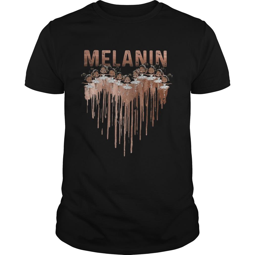Melanin Black Girl Ballet Heart shirt