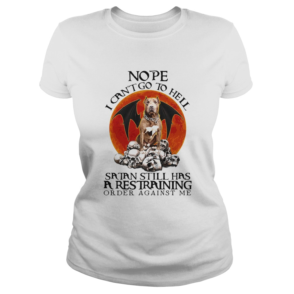 Boxer skulls nope i cant go to hell satan still has a restraining order against me sunset shirt