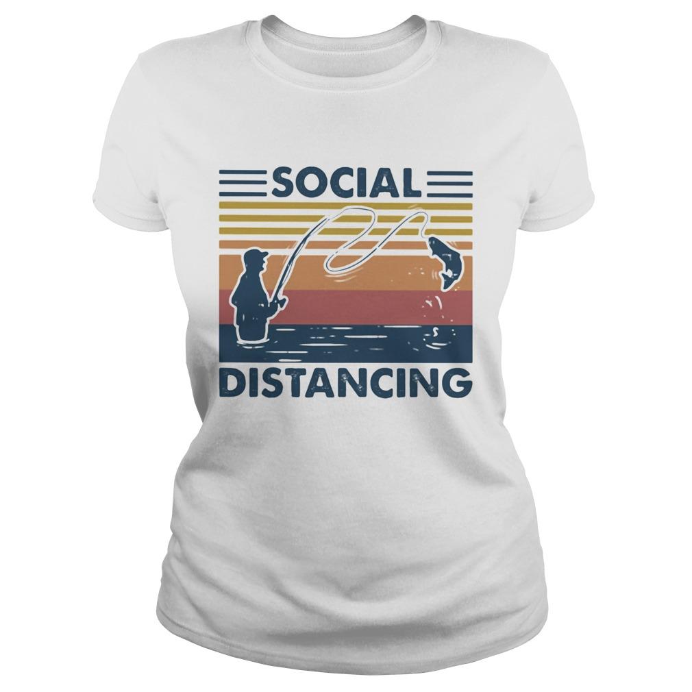 Social Distancing Fishing shirt