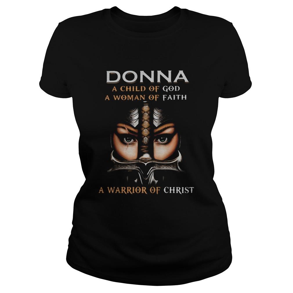Woman warrior armor of god donna a child of god a woman of faith a warrior of christ shirt