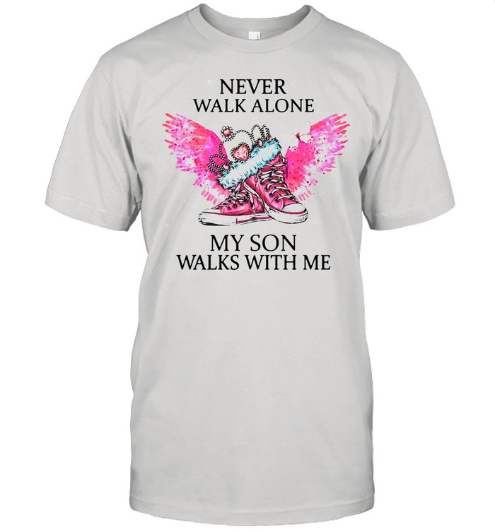 Chuck And Pearls Never Walk Alone My Son Walks With Me shirt