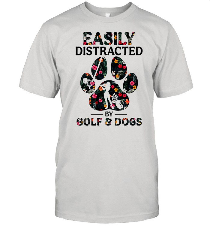 Easily distracted by solf and dogs shirt