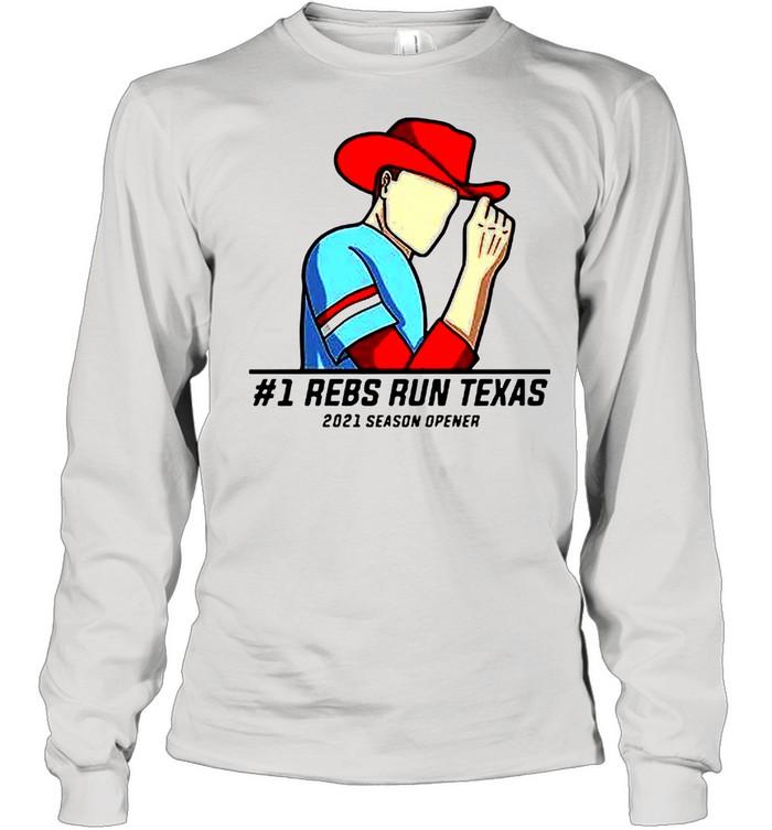 #1 Reps Run Texas 2021 Season Opener shirt Long Sleeved T-shirt