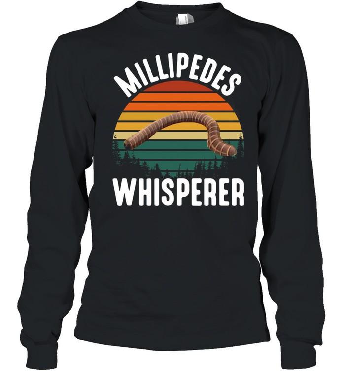 Millipedes Whisperer Vintage Retro shirt Long Sleeved T-shirt