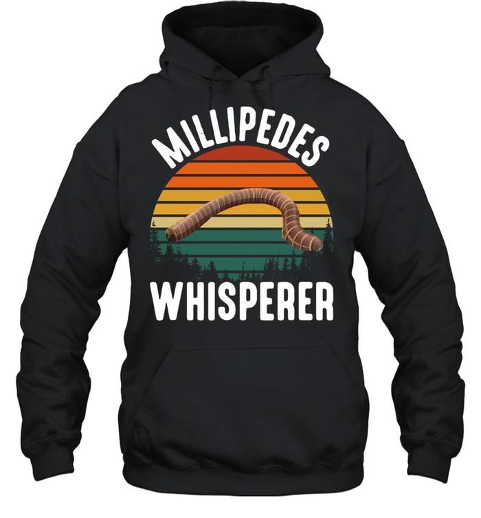 Millipedes Whisperer Vintage Retro shirt Unisex Hoodie