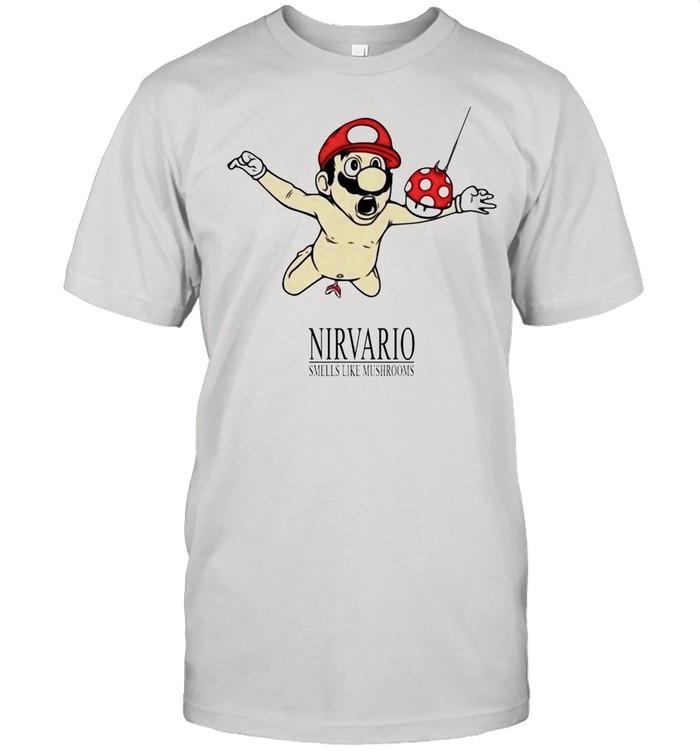 Super Mario Nirvario Smells Like Mushrooms shirt