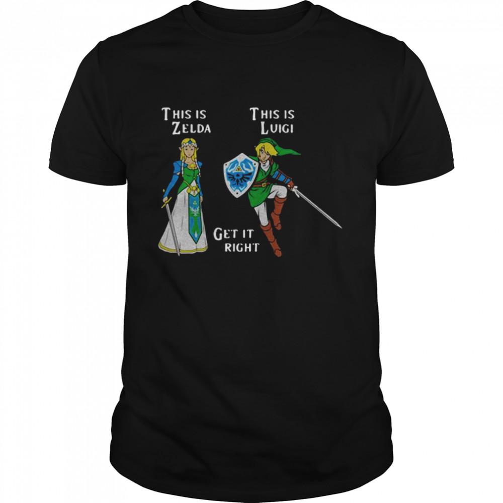 This Is Zelda This Is Luigi shirt