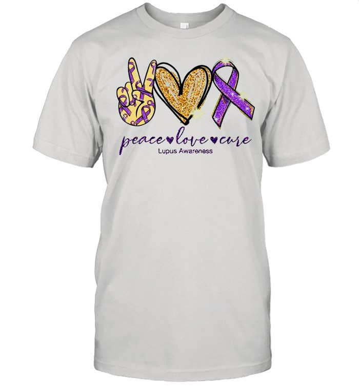 peace love cure lupus awareness shirt