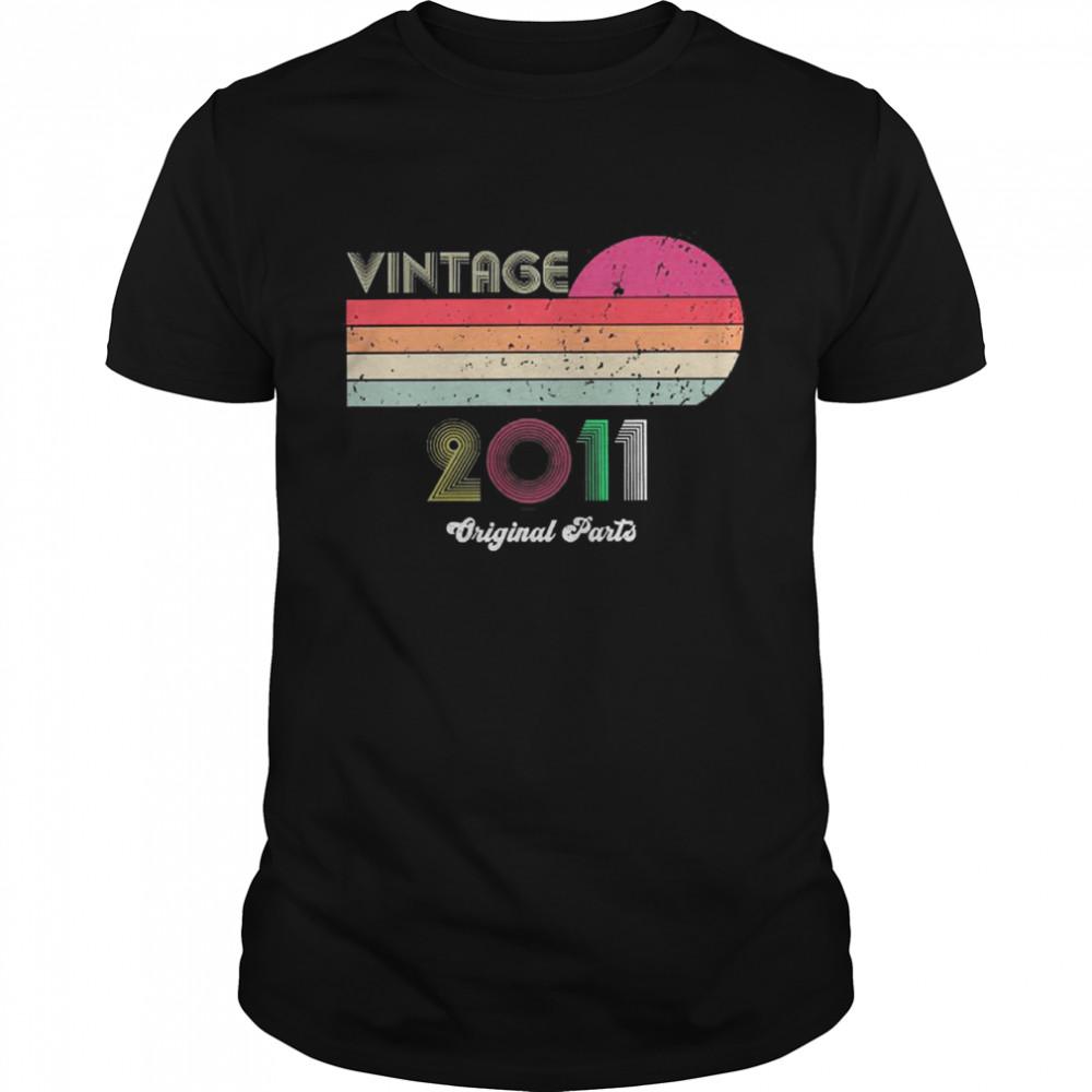 Vintage 2011 10th Birthday shirt