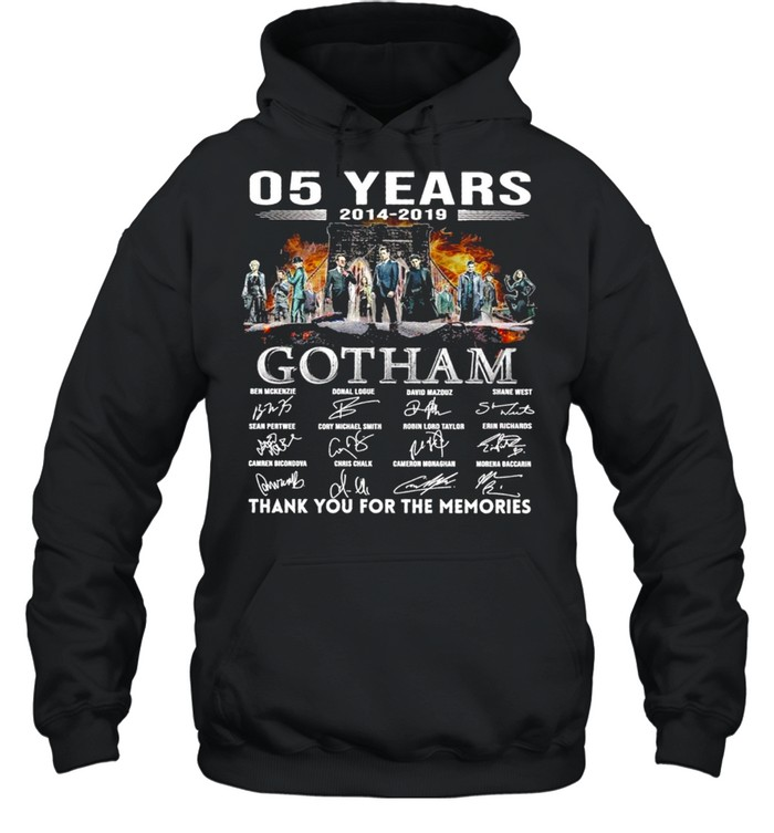 05 Years 2014 2019 Gotham Signatures Thank You For The Memories  Unisex Hoodie