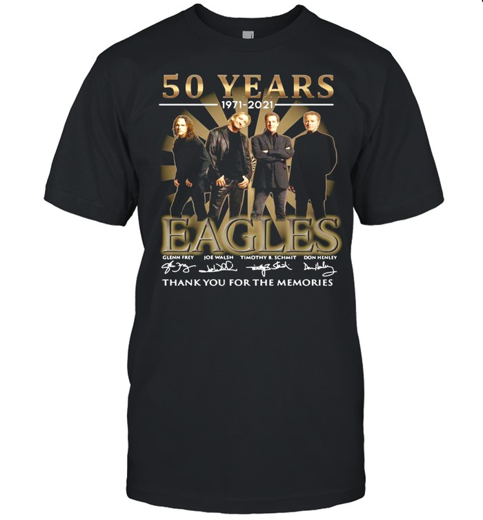 50 Years 1971 2021 Eagles Signatures Thank You For The Memories T-shirt