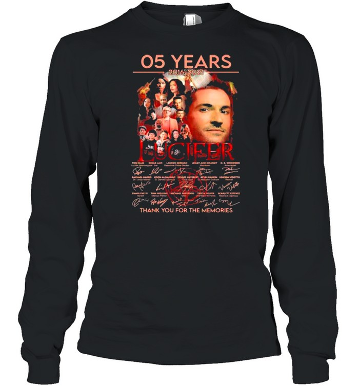 05 Years 2016 2021 Lucifer Thank You For The Memories Signature  Long Sleeved T-shirt