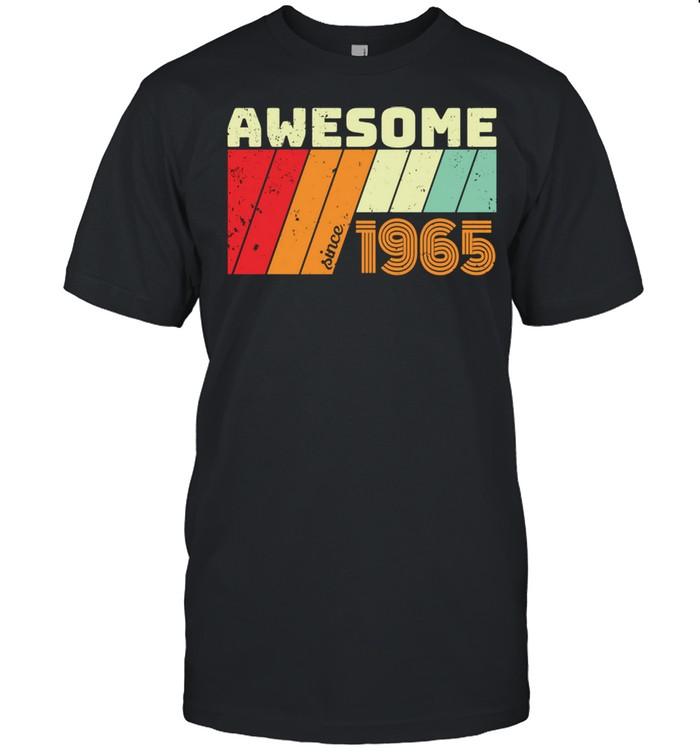 56 Geschenk Geburtstag AWESOME SINCE 1965 shirt