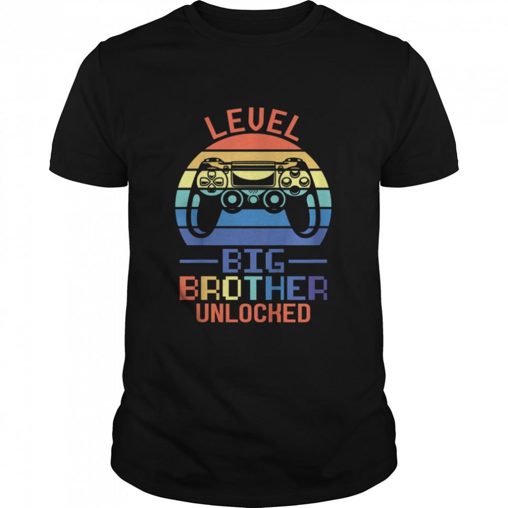 Kids Level Big Brother unlocked Big Brother Brother shirt