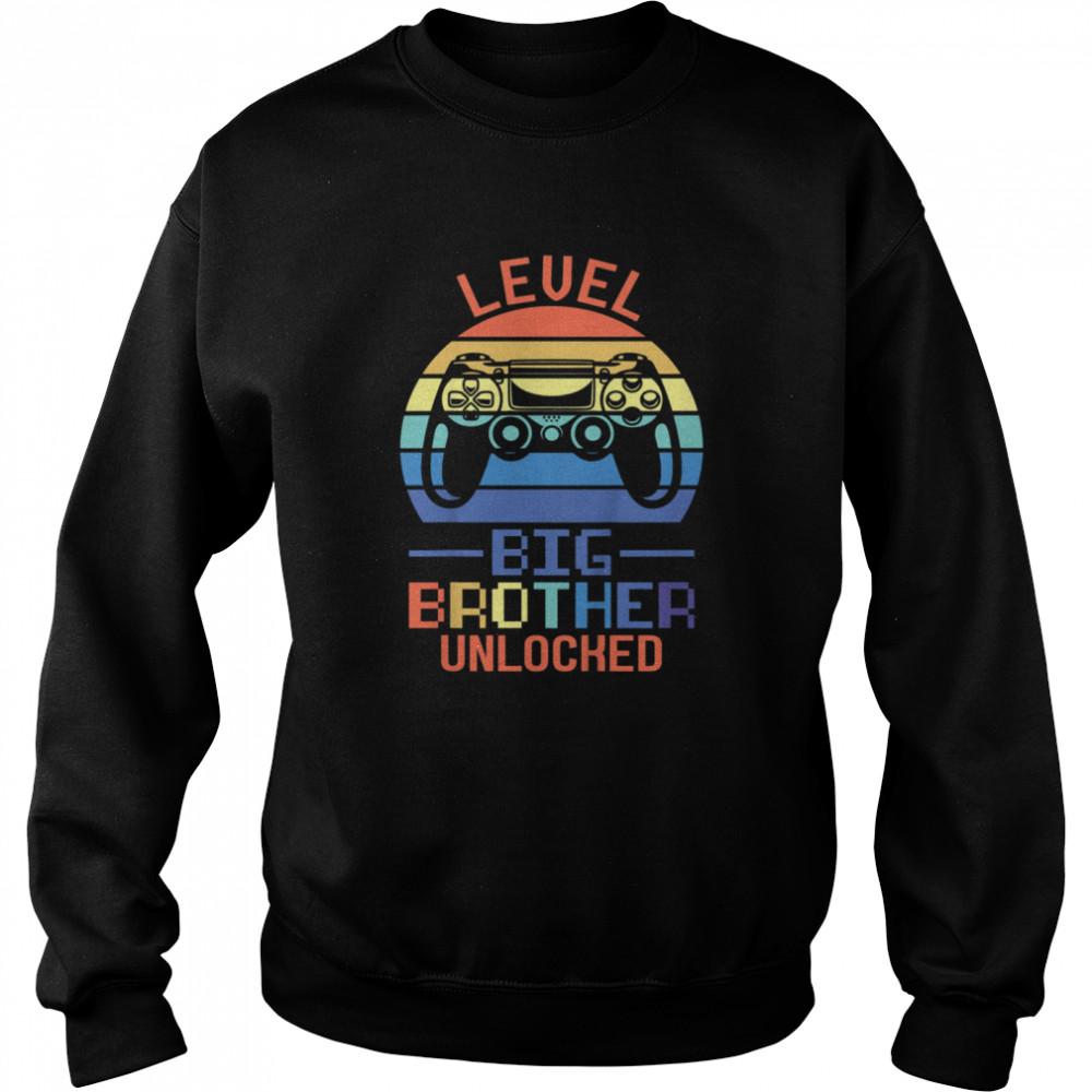 Kids Level Big Brother unlocked Big Brother Brother shirt Unisex Sweatshirt