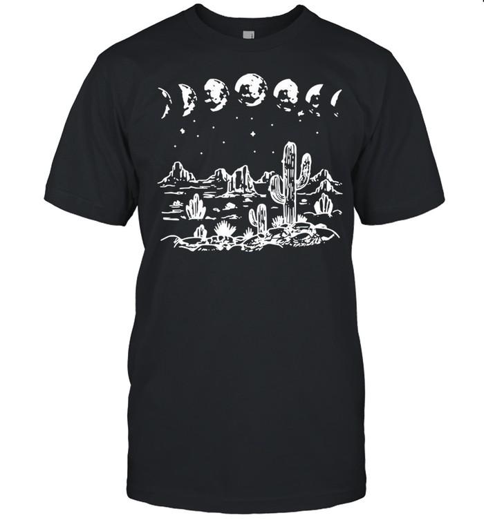 Desert Cactus Starry Night T-shirt