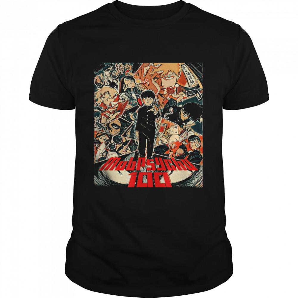 100 Psychos Mobs Art Cool shirt