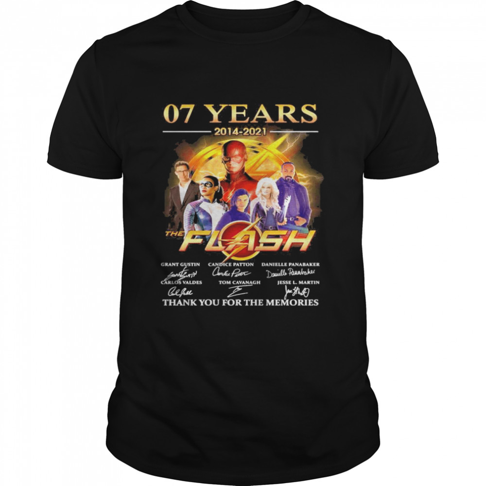 07 Years 2014 2021 The Flash Signatures Thank You For The Memories Shirt