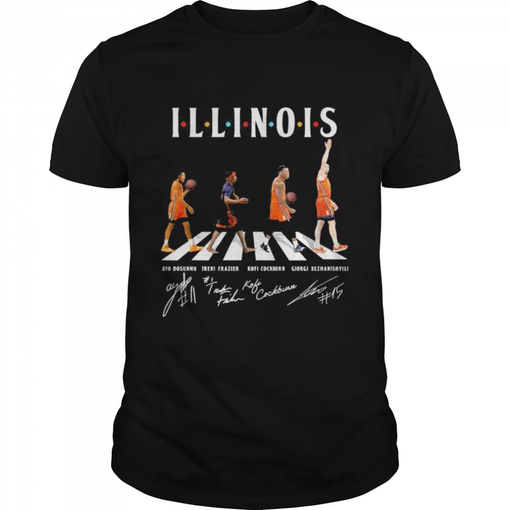 Illinois Abbey Road Signatures Shirt