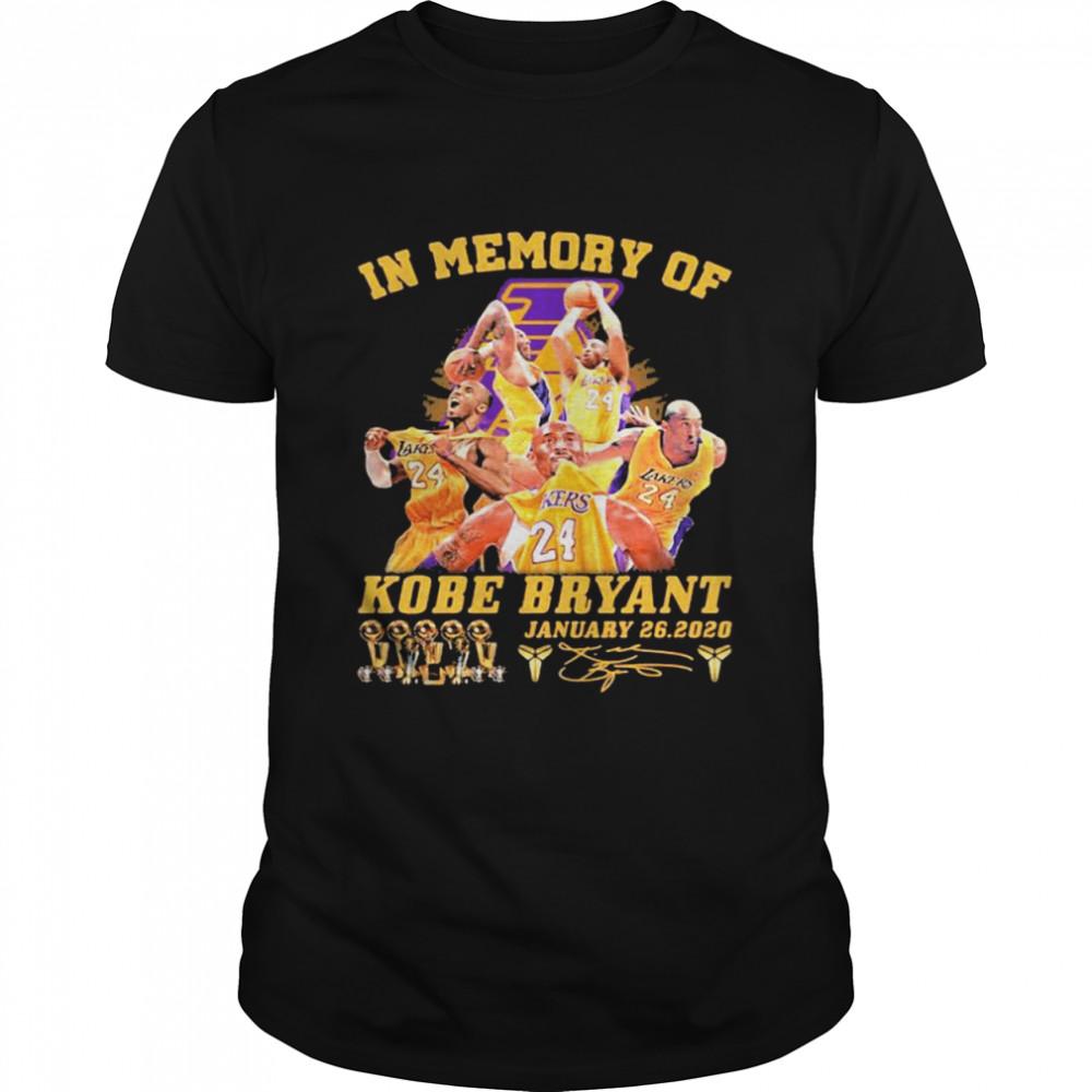 In Memory Of Kobe Bryant Legend Never Die Signature Shirt